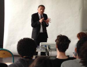 2016 intervention en classe de l'Euro-député Philippe Juvin